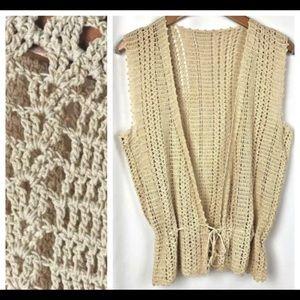 Vintage Festival Crocheted Boho Vest Top